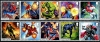 GREAT BRITAIN - Scott NEW ISSUE Marvel Comics Strips of 5 Different (Folded) (P/3 @ Face) (2)  Another stamp from Herrick Stamp Company