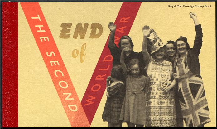 GREAT BRITAIN - Ending of World War II Prestige Booklet with 4 S/S Available Only in This Booklet (1)