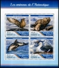 GUINEA - Scott NEW ISSUE Animals of Antarctica Sheetlet of 4 Different (P/1 @ Face) (1)  Another stamp from Herrick Stamp Company