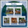 GUINEA BISSAU - Turtles Sheetlet of 5 Different (P/1 @ Face) (1)