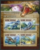 GUINEA BISSAU - Scott NEW ISSUE Prehistoric Water Animals Sheetlet of 4 Different (P/1 @ Face) (1)  Another stamp from Herrick Stamp Company