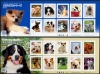 JAPAN - Familiar Animals Series Part 4 - Dogs Self-Adhesive Sheetlets of 10 Different (P/3 @ Face) (2)