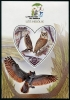 MADAGASCAR - Owls Souvenir Sheet with Heart Shaped Stamp (1)