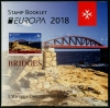 MALTA - Scott NEW ISSUE EUROPA 2018 Bridges Booklet of 5 Stamps (P/3 @ Face) (1)  Another stamp from Herrick Stamp Company