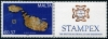 MALTA - Scott NEW ISSUE Map with Label Stampex 2018 (P/3 @ Face) (1)  Another stamp from Herrick Stamp Company