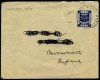 PALESTINE MANDATE - Scott 1 1 pence indigo tied to cover to Bournemouth (name&part of address label obliterated).Army P.O. SZ.44 w/ 15 Feb. 1918 circular date stamp. Censor label #4579 on reverse. Solony 1978 certificate states cover is genuine & the stamp is in perfect condition. Used cover.