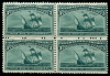 UNITED STATES - Scott 232 3¢ Columbian Block of 4. 2 Stamps NH, 2 LH MINT F/VF NH  Another stamp from Herrick Stamp Company