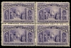 UNITED STATES - Scott 235 Fresh Block of Four. Top stamps very LH, bottom two NH  Another stamp from Herrick Stamp Company