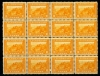 UNITED STATES - Scott 400 Pan-Pacific Block of 16. Rare piece. 2 Stamps LH. Rest never hinged. Scott retail $5000.