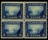 UNITED STATES - Scott 403 Scarce block of four, top pair hinged, bottom pair NH  Another stamp from Herrick Stamp Company